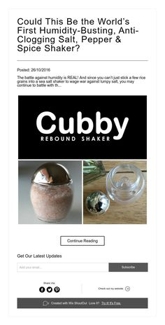 Could This Be the World's First Humidity-Busting, Anti-Clogging Salt, Pepper & Spice Shaker?