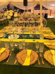 Tsonga Traditional Dresses, Wedding Decorations, Wedding Ideas, Table Decorations, African Wedding Theme, Traditional Wedding Decor, Achilles, Catering, Dream Wedding
