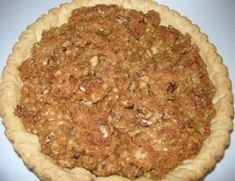 Family Favorite Sawdust Pie (maybe add half cup of chocolate chips or raisins)