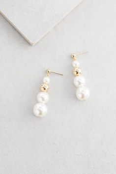 Pearl Tier Drop Earrings $14