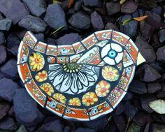 Angela Nash Mosaic Animals, Mosaic Birds, Mosaic Wall Art, Mirror Mosaic, Mosaic Glass, Glass Art, Stained Glass, Mosaic Projects, Mosaic Ideas