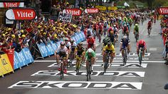 Mark Cavendish, aided by the Dimension Data sprint train, timed his sprint to perfection to vanquish Andre Greipel by a hair's breadth on Stage 3 of the Tour de France - even if it may have been the only piece of excitement in the 223km stage from Granville to Angers.