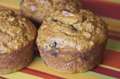 Chocolate Chip Pumpkin Quinoa Muffins from Once A Month Mom