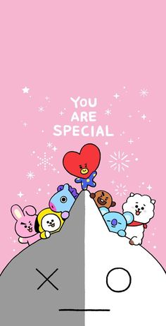 BROWN PIC is where you can find all the character GIFs, pics and free wallpapers of LINE friends. Bts Army Logo, Bts Lyrics Quotes, Bts Pictures, Photos, Album Bts, Bt 21, You Are Special, Bts Drawings, Bts Chibi