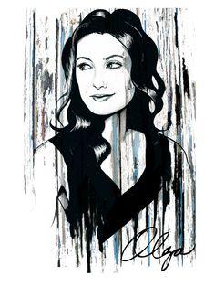 Olga Wilhemine Munding-Portrait tshirt graphic design custom made to order by We Admire in London
