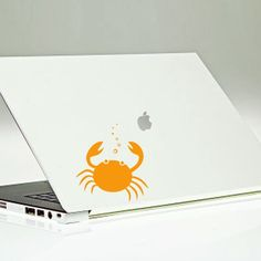 Macbook Decal Laptop Sticker Crab