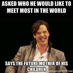 ":) this is why we love Benedict Cumberbatch -- I have to say it...""I VOLUNTEER!!!"""
