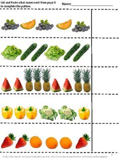 Interactive Notebook. With this Fruit and Vegetables Interactive Notebook Cut and Paste Activities set students in P-K, Kindergarten, Special Needs and Autism classroom can practice sequencing, sorting, counting, addition and subtraction.     This product is ready to print and be used immediately.