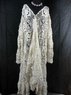 Skullz Antique Crochet Lace long Coat I`m working on right now