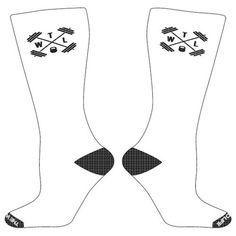 TWL High Performance - Crew Socks - White & Black - $13.95