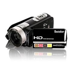 #BESTEKER FHD 1080p Camcorder Make it memorable with BESTEKER Full HD/30p quality. Capture amazing footage in low light and control. It is a perfect starter cam...