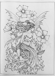 Magical Fairies of Molly Harrison: Flower Fairies and Celestial Fairies Blank Coloring Pages, Fairy Coloring Pages, Free Adult Coloring Pages, Coloring Books, Amy Brown Fairies, One Stroke Painting, Flower Fairies, Anime Neko, Doodle Art