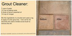 I saw this all natural grout cleaner (picture below) on pinterest and I thought that I would give it a try. I can't give credit to the...