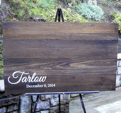 Rustic Wood Guest Book Pallet 3 Feet Wide Alternative Custom Personalized…