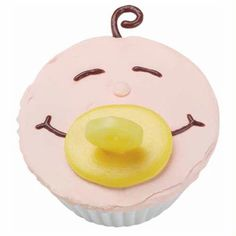 Cute and Contented Cupcakes - Wish the family congrats with Cute and Contented Cupcakes. Candy pacifiers help to make this treat as sweet as the new bundle of joy.