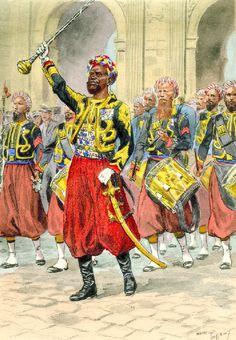 Tambour Major, Zouaves de la Garde, c. 1860-1870 by Maurice Toussaint