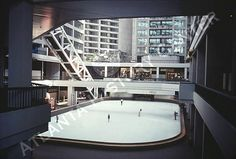 Omni International Hotel  Atlanta, GA  ~  1976  Ice Skating Rink ~ one of my very favorite places to hang out!! They also had a shop in the Omni that carried 'international' clothing & was one of the few places (besides the airport) where I could buy my preferred Indian gauze babydoll sundresses :o) VERY retro indeed...