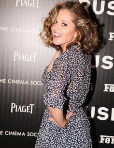 Margarita Levieva, of the ABC TV series Revenge, looks forward to the change of season in a sheer, swirling shirt dress.
