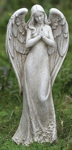 Praying Angel Garden Statue Serene Outdoor Decor