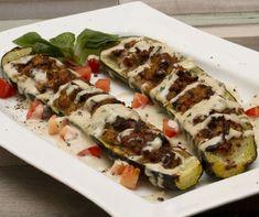 14 töltött cukkini, amit te is el akarsz majd készíteni! Izu, Tahini, Food To Make, Zucchini, Sushi, Vegetables, Healthy, Ethnic Recipes, Vegetable Recipes