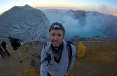 On Java in Indonesia, you can hike at night to the crater of Ijen Volcano to see its blue flames Blue Flames, Volcano, Indie, Hiking, Mountains, Night, Travel, Walks, Viajes