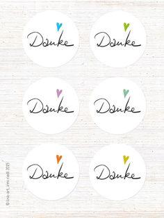 AUFKLEBER, DANKE 40mm - lina-art - Notizbücher zu Hochsensibilität - feine Papeterie Decorative Plates, Presents, Printables, Stickers, Diy, Paper Mill, Patterns, Celebrations, Notebook