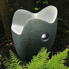 Rotationally moulded polyethylene armchair for open spaces, for shady gardens or simply for the home. Its enveloping shape is reminiscent of a flowering bush; the embossed floral decorations are a hallmark of the Dutch designer. http://www.cbstudio.net/onest.html #furniture #design