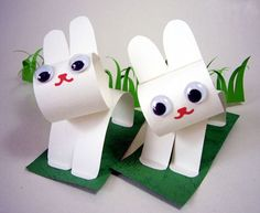 how to make easter bunnies with construction paper | And as for the paper bunnies, I'm stumped! I think you could create ...