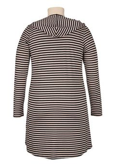 long striped plus size cardiwrap with hood from maurices. #Sarnia #LambtonMall