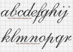 Resultado de imagen para letras en punto cruz para imprimir
