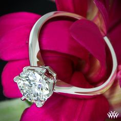 "1.08ct Round Diamond set in ""Contemporary"" Solitaire Engagement Ring"