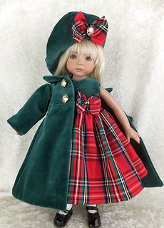 Effner Little Darling Velveteen coat and dress. Girl Doll Clothes, Doll Clothes Patterns, Girl Dolls, American Girl Outfits, Pretty Dolls, Beautiful Dolls, Red Fashion, Fashion Dolls, Reborn Toddler Dolls