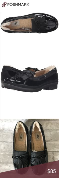 NWT UGG Haylie Loafer Rain Shoe Brand new!  Black!  Super cute! UGG Shoes