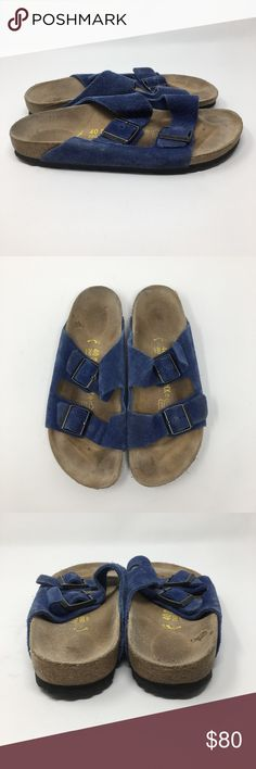 reputable site 27e3f c094c Birkenstock Blue Suede Size 40 L9 M7 Birkenstock Blue Suede. Size 40 L9 M7.  Overall good condition! Birkenstock Shoes Sandals