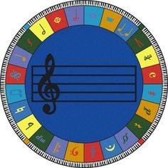 The Note Worthy Classroom Rug helps students develop a lifelong appreciation for music. Teach them how music notes are used to make joyful melodies. Music can be an invaluable addition to any classroo