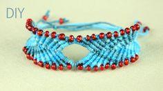 DIY Chevron style Bracelet with Diamond and Beads