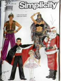 Simplicity 9892 Paper Sewing Pattern, Sew Costumes for Ad...
