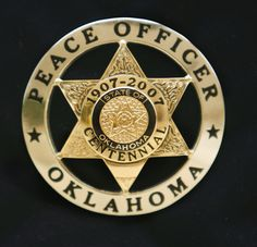 oklahoma centennial police badge - Google Search
