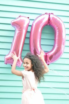 Double Digit Birthday Photo shoot with balloons!!