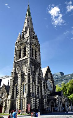 Christchurch Cathedral, Christchurch, South Island, New Zealand by Dave Morrison Places To Travel, Places To See, Places Ive Been, Papua Nova Guiné, Christchurch New Zealand, Cathedral Church, Anglican Cathedral, Visit New Zealand, Temples