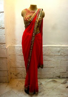 arpita_mehta_designer_gota_mirror_work_lehenga_saree_collection