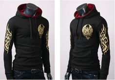 Men's Hoodie with Eagle Pattern