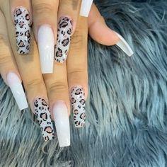 Gorgeous cheetah nails design done by Jennifer Cheetah Nail Designs, Cheetah Nails, Bling Acrylic Nails, Best Acrylic Nails, Fingernail Designs, Purple Nails, Gorgeous Nails, Pretty Nails, May Nails