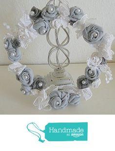 Reizender Kranz aus handgearbeiteten Blüten von der Dragonflys Home https://www.amazon.de/dp/B01MT4CJ1P/ref=hnd_sw_r_pi_dp_9ZMzyb5EHRRQ2 #handmadeatamazon