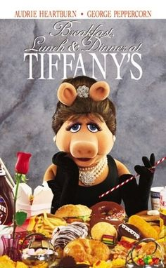 Miss piggy as Holly Golightly