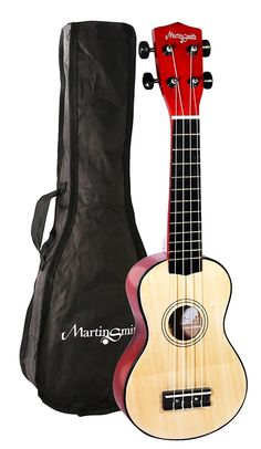 Kit Guitar Musical Martin Smith Soprano Ukulele Starter Instrument Natural New!! #MartinSmith
