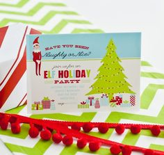 elf on the shelf christmas party printable invitation