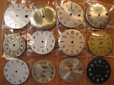 Price Reduced 12 Vintage Wrist Watch Dials 27mm to 29mm Steampunk by HandzofTime, £6.25