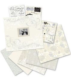 K & Company 12''x12'' Postbound Scrapbook Kit-Classic Wedding, , hi-res