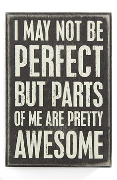 Primitives by Kathy 'I May Not Be Perfect' Box Sign available at #Nordstrom
